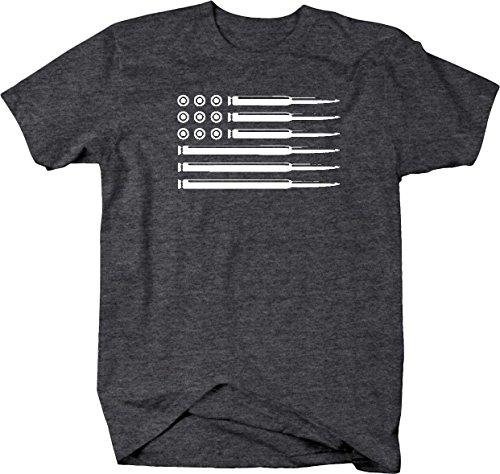 AR15 5.56 Rifle Bullets American Flag Gun Rights Military Mens T Shirt - 2XL 49f3a9914b7