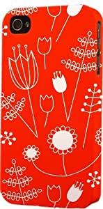 Red & White Floral Pattern Dimensional Case Fits Apple iPhone 5 or iPhone 5s by icecream design