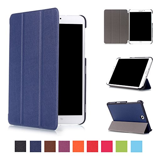 Asng Samsung Galaxy Tab S2 8.0 Case - Slim Lightweight Smart-Shell Stand Cover Case with Auto Wake/Sleep for Samsung Galaxy Tab S2 / S2 Nook 8.0 inch Tablet (SM-T710 / T715 / T713 / T719 (Dark Blue)