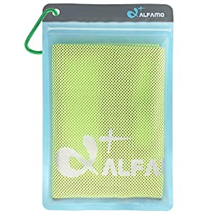 Well-Being-Matters 51kFMM5rXiL._SS300_ Alfamo Cooling Towel for Sports, Workout, Fitness, Gym, Yoga, Pilates, Travel, Camping & More