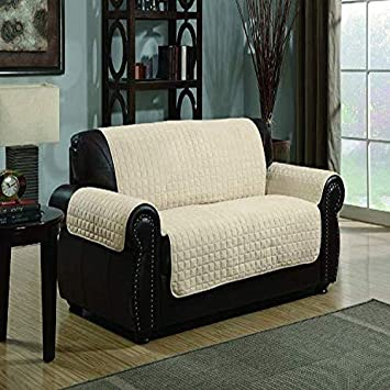 Amazon.com: Protector de sofá de microfibra acolchado ...