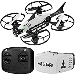 3. Fatshark 101 FPV Drone Training System Bundle w/ Drone, First Person View Goggles, Radio, Extra Props