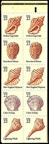 USPS Seashells Stamps Twenty 22 Cent Scott 2117-2121a Complete Booklet
