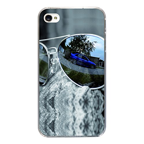 "Disagu Design Case Coque pour Apple iPhone 4s Housse etui coque pochette ""Auto in Sonnenbrille"""