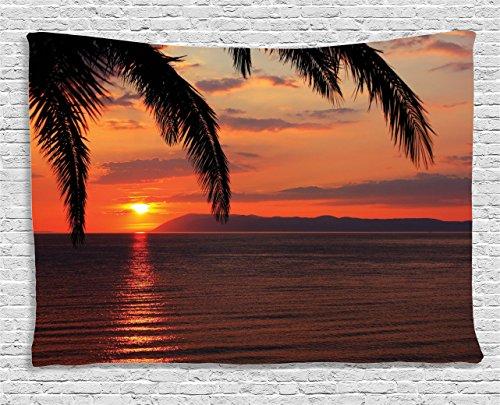 Ambesonne Tropical Tapestry Honeymoon Romantic