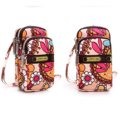 Zipper Purse Multicolor5 Sport Shoulder Bag Wrist Fashion Women's Mini Kanpola Multicolor Printing zqwStSa