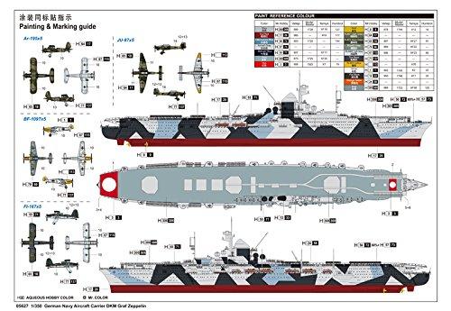 トランペッター 1/350 ドイツ海軍 航空母艦 グラーフ・ツェッペリン プラモデル[並行輸入品]