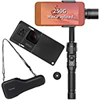 Hohem 3-Axis Gimbal Alluminum Stabilizer w/Plate for Smartphone Up to 6 Like iPhone 7 Plus/6 Plus and Gopro, Wireless Control Vertical Shooting Panorama Mode Tracking Zoom In/Out (BUFF-Black)
