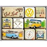 Nostalgic Art 83080Couvercle Kit Magnétique Volkswagen Bulli-Let's Get Lost, 9pièces
