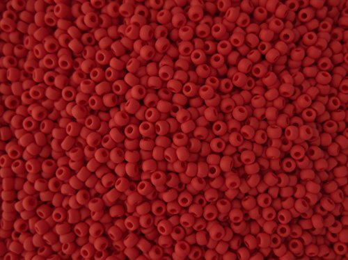 11/0 Toho Japanese Seed Beads - Red Matte Opaque #45F (28g Tube)