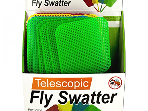 Giant Telescopic Fly Swatter Display - Set of 12, [Household Supplies, Pest Control]