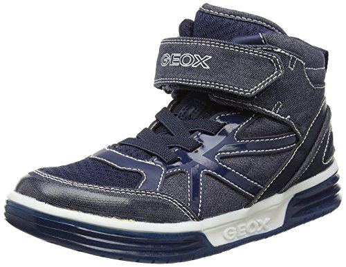 Geox J Argonat D, Zapatillas Altas para Niños Azul (Navyc4002)