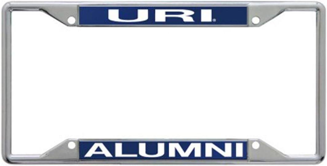 WinCraft University of Rhode Island URI Rams Alumni Premium License Plate Frame 4 Mount Holes Metal with Inlaid Acrylic