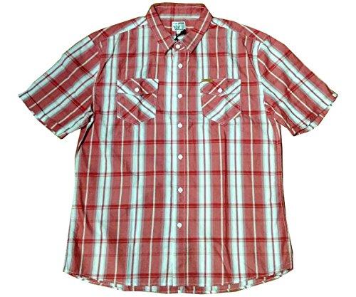 NEW Firetrap Johnny Rouge Carreaux Chemise Décontractée à manches courtes pour homme pour homme