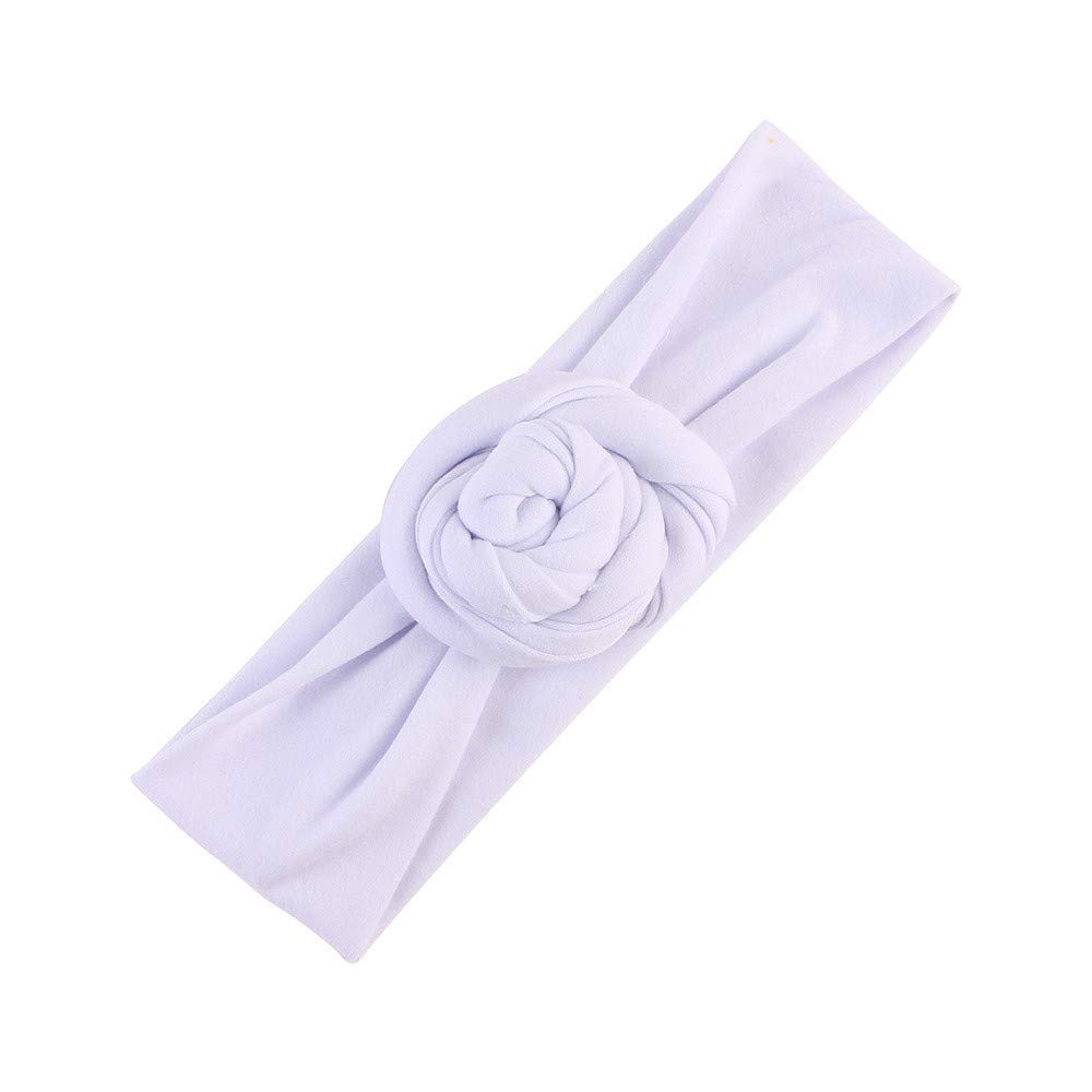 NUWFOR Cute Kids Girls Baby Toddler Turban Knot Headband Hair Band Accessories Headwear White