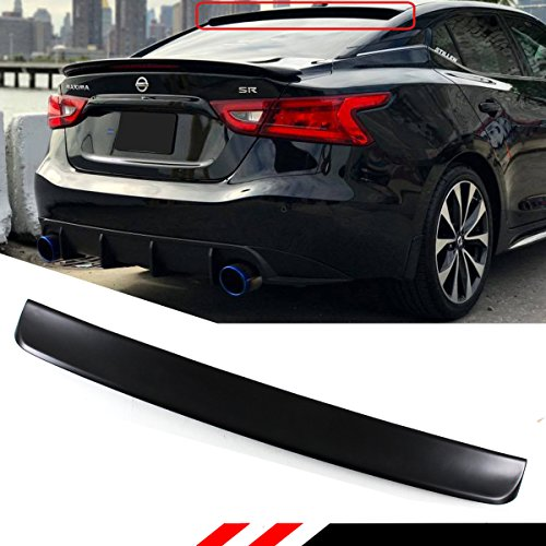 (Cuztom Tuning FOR 2016-2018 NISSAN MAXIMA 8TH GENERATION MATT BLACK VIP BIG REAR ROOF WINDOW SPOILER WING)