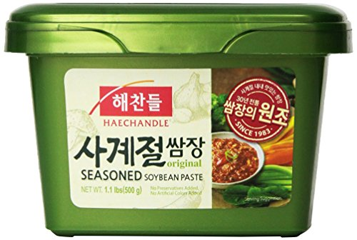 (Haechandle Seasoned Soybean Paste 1.1 Lb. (500g) Tub)