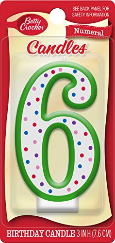 Betty Crocker Numeral Birthday Candle #6]()
