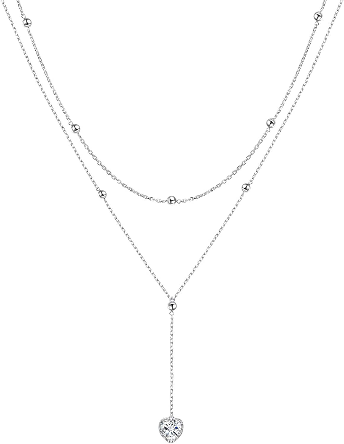 Silver Colored Y Style Lariat  19 Big Sis Necklace