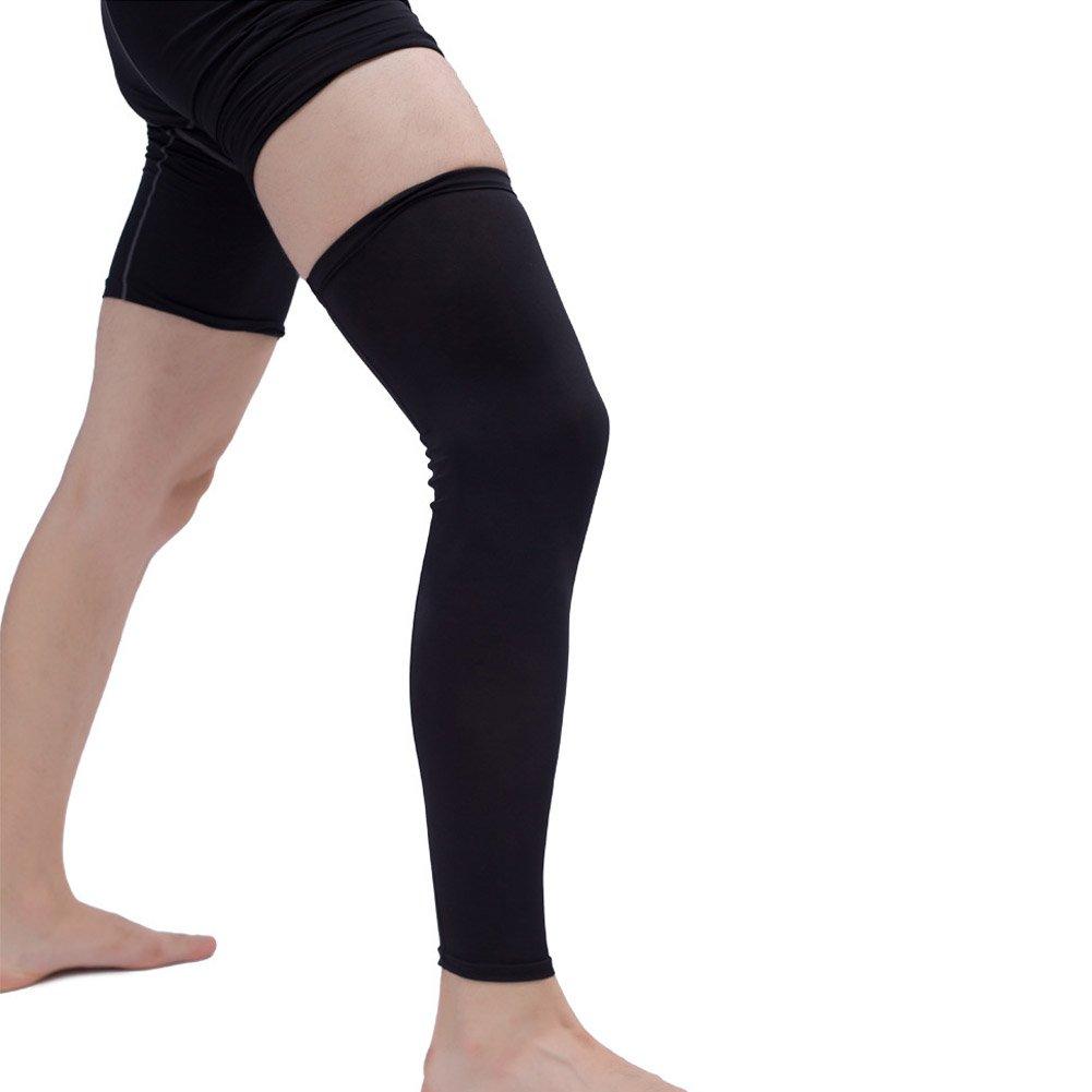 Ztl 2PCS Leg Sleeves UV Sun Protection Compression Long Leg Knee Sleeve for Basketball Football Running Cycling