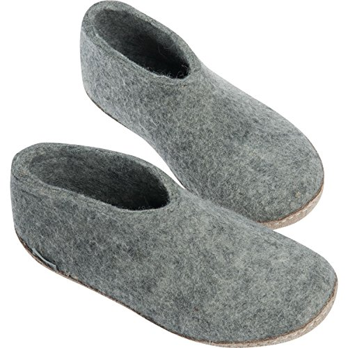 Slipper Glerups Shoe Grey Natural Wool A Model Unisex nxfqwAgp
