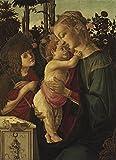 Sandro Botticelli - La Madonna col Bambino - Large - Archival Matte - Brown Frame Vintage Wall Art Poster Picture Giclee Artwork Modern Contemporary & Fine Art Print