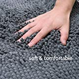X·SOAR-Bath mats, Soft and Comfortable Bathroom Rugs,Absorbent,Shaggy and Fast Dry Bath Rugs, Non-Slip Kitchen mat.(20''×32'' inch, Iron)