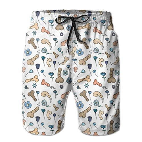 Cruiser Ski Pant - ZQKCMY New Penis Flower Printed Pattern Summer Suit Men's Beach Pants with Pockets