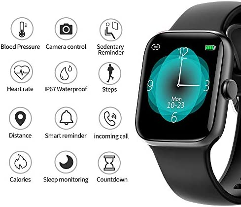 Smart Watch for Men Women,Fitness Tracker with 1.54″ Full Touch Color Screen ,IP67 Waterproof Pedometer Smartwatch with Pedometer Heart Rate Monitor Sleep Tracker for Android and iOS Phones 51kFQBAZ0lL