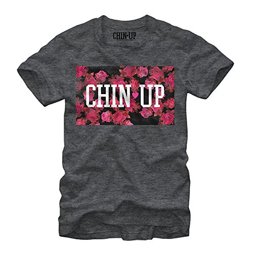 Chin up Women's Logo Floral Print Charcoal Heather - Tee Womens S/s Logo