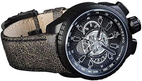 [ボンバーグ] メンズ 腕時計 自動巻き クロノグラフ 懐中時計 ポケットウォッチ ボルト68 スカル リミテッドエディション BOLT-68 BS47CHAPBA.024-2.3 革ベルト 茶 ブラウン 骸骨 ドクロ