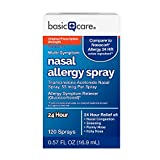 Basic Care Nasal Allergy Spray, Triamcinolone Acetonide Nasal Spray, 55 Mcg per Spray, 120 Sprays, 0.57 FL oz