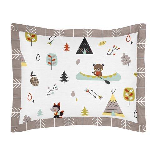 Sweet Jojo Designs 5-Piece Outdoor Adventure Nature Fox Bear Animals Boys Toddler Bedding Set