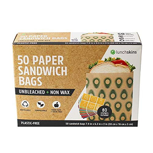 Lunchskins Unbleached + Non-Wax Durable Food Storage Paper Bags, Recyclable, Compostable, Made from  - http://coolthings.us