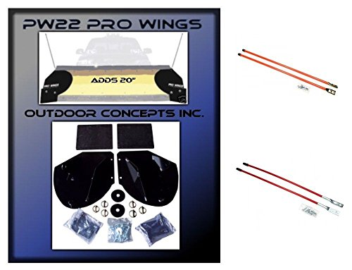 New Snow Plow PRO-WING BLADE EXTENSIONS & Pair of 27