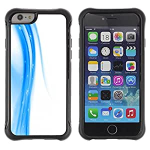 "Pulsar iFace Series Tpu silicona Carcasa Funda Case para Apple (4.7 inches!!!) iPhone 6 , Blanca Fluid Diseño abstracto Limpio"""