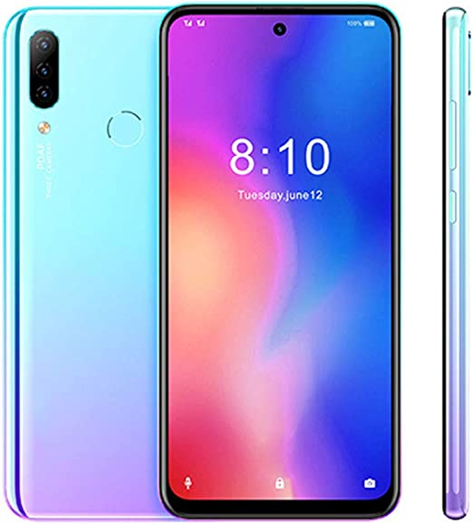 SUQIAOQIAO Android teléfono móvil 4G 9,0 MT6763 Octa Core 4 GB 64 GB 4000mAh 6,41 Pulgadas Face ID 13 MP + Triple Cámaras Smartphone,Azul,Standard: Amazon.es: Hogar