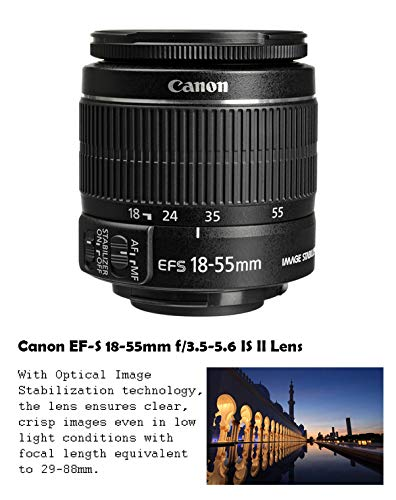 Canon EOS Rebel T7 DSLR Camera + Canon EF-S 18-55mm + Canon 75-300mm & 500mm Telephoto Lens + Wide Angle & Telephoto…
