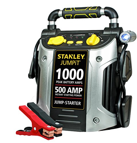 STANLEY J509 Power Station Jump Starter: 1000 Peak/500 Instant Amps with Battery Clamps