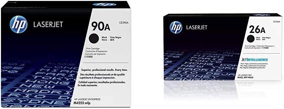 HP 90A | CE390A | Toner Cartridge | Black & 26A | CF226A | Toner Cartridge | Black