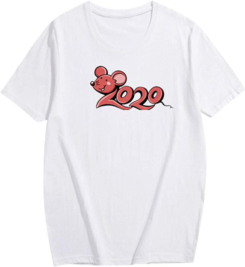 ZZpioneer Children Letter Print Short-Sleeve T-Shirts Boys Girls 2020 Cartoon Mouse Print Family Matching Clothes Tops
