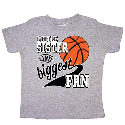inktastic - Little Sister and Biggest Fan- Toddler T-Shirt 2T Heather Grey 2c297