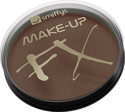 Smiffy's 39184 Make-up FX, Aqua Face und Body Paint, dunkelbraun