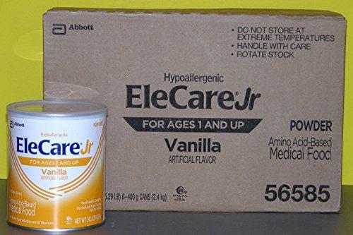 Abbott Elecare Jr Vanilla Powder 14.1 Oz Can - 1 case (6 ...