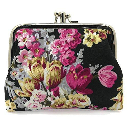 Cute Floral Buckle Coin Purses Vintage Pouch Kiss-lock Change Purse Wallets (14)