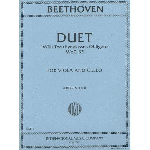 (Beethoven, Ludwig Duet Two Eyeglasses Obligato WoO 32 for Viola, Cello - by Stein - International)
