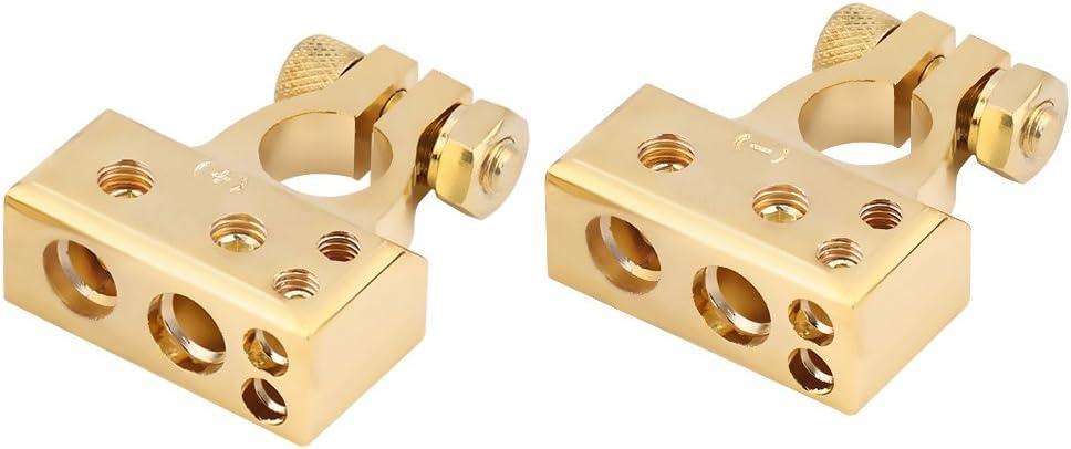 Connettore Morsetto Positivo Negativo della Batteria Morsetto con Coperchio di Protezione per 0//1 2 4 8 Manometro AWG Argento