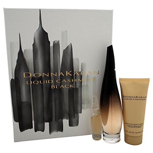 Donna Karan Liquid Cashmere Women s Gift Set, Black, 3 Count