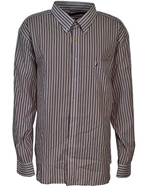 Men's Cotton Button Down Button Collar Wrinkle Resistant Slim Fit Shirt