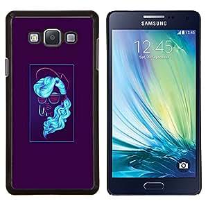 Jordan Colourful Shop - Blue Neon Woman For Samsung Galaxy A7 Personalizado negro cubierta de la caja de pl????stico
